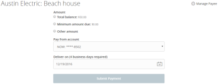 Managing bill payments