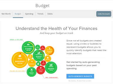 how do i use the budget widget in citadel money manager citadel